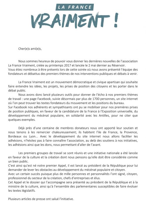 La France Vraiment courrier
